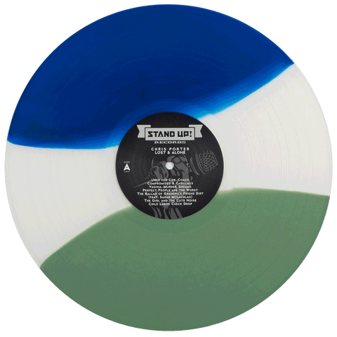 Chris Porter - Lost And Alone (1st pressing blue/bong smoke/green striped tri-color vinyl)
