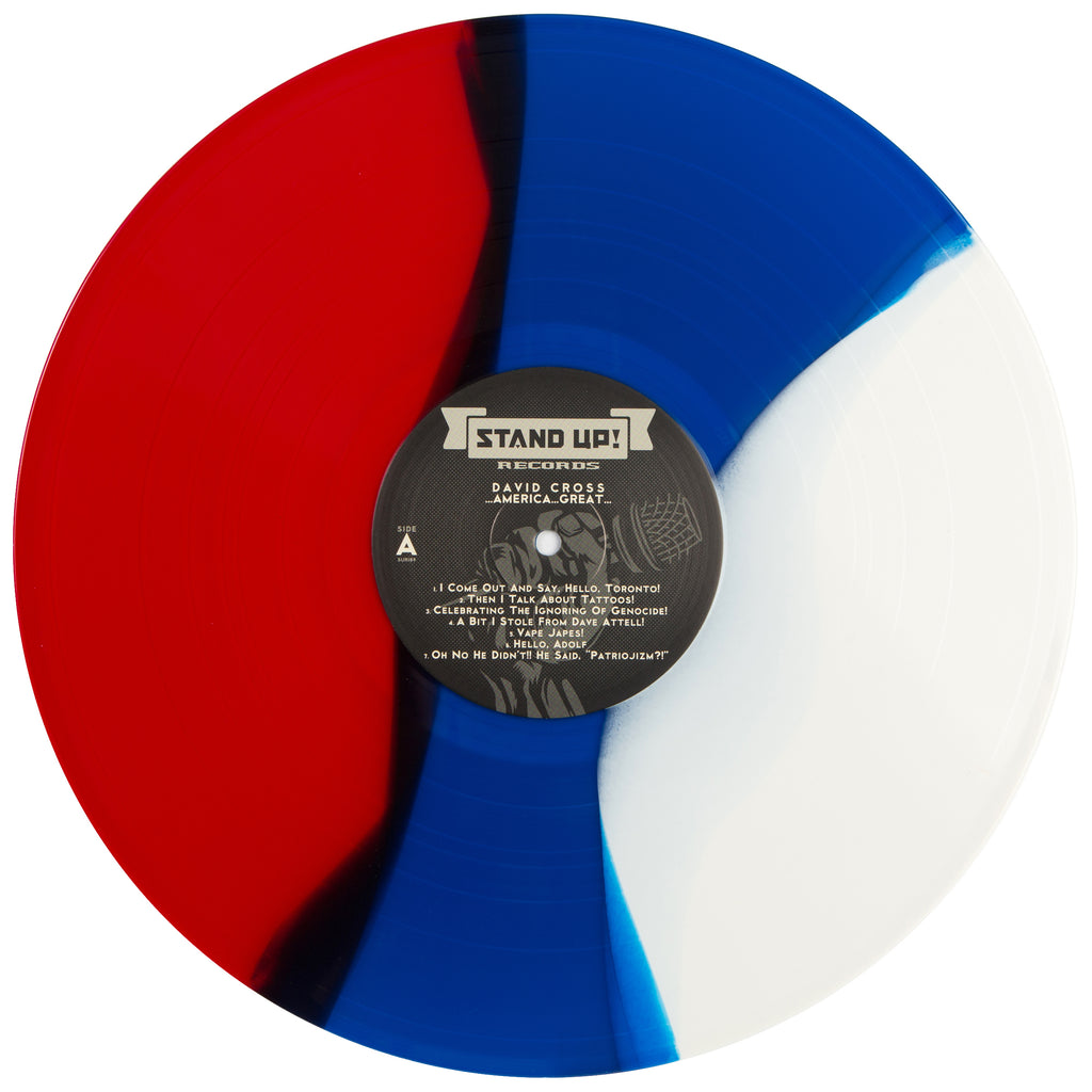 David Cross - ...America...Great... (red/blue/white vinyl)