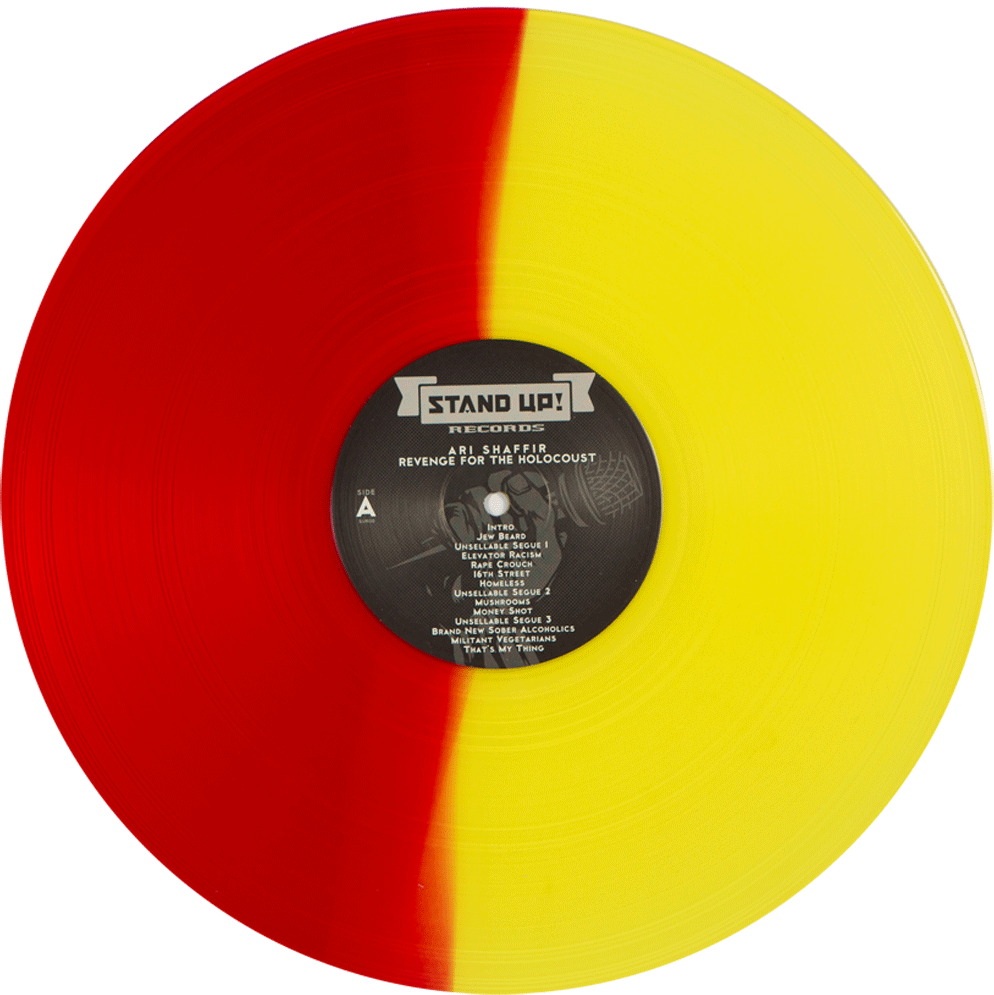 Ari Shaffir - Revenge for the Holocaust (red/yellow split colored vinyl)