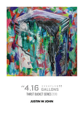 """4.16 Overflow Gallons"" Soft Touch Postcard"
