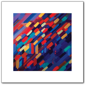 Reverberation (Busy State) Fine Art Paper Print
