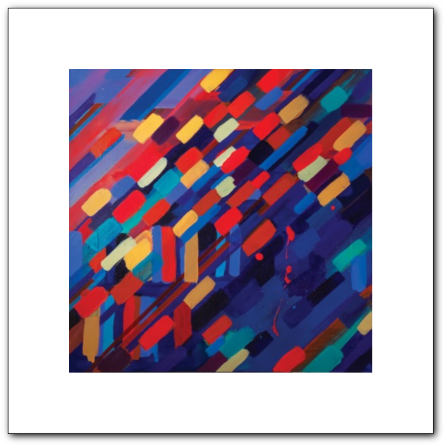 Busy State (Reverberation) Fine Art Paper Print