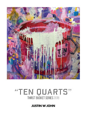 """Ten Quarts"" Soft Touch Postcard"