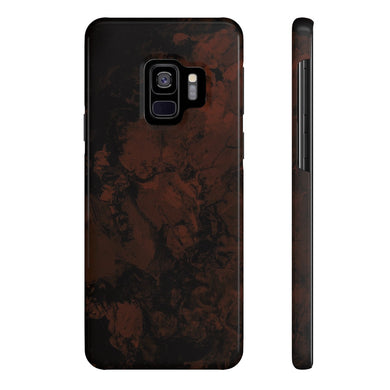 Chaos Case Mate Slim Phone Cases - Oxblood