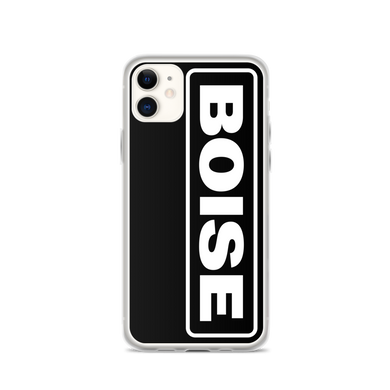 BOISE iPhone Cases - White on Black