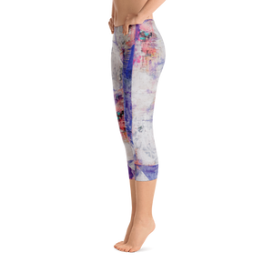 Abstraction All-Over-Print Capri Leggings
