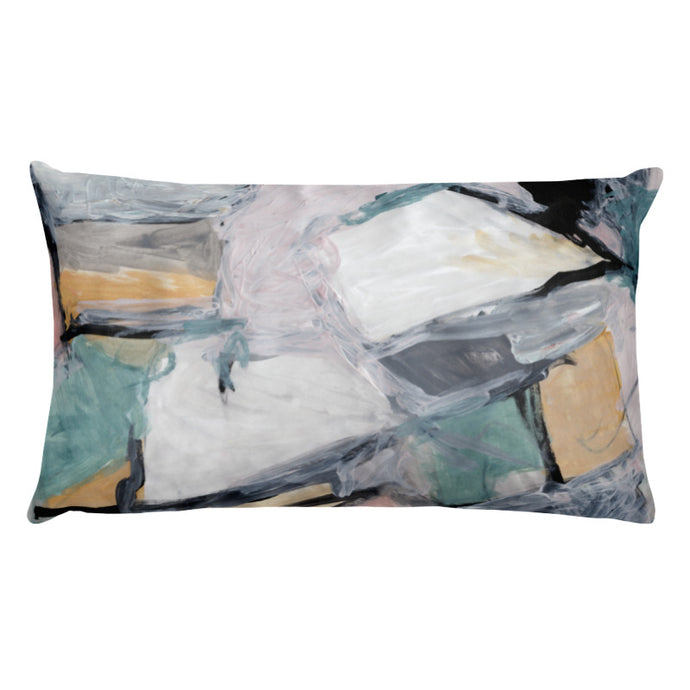 "The ""Oh"" Abstract Pillow"