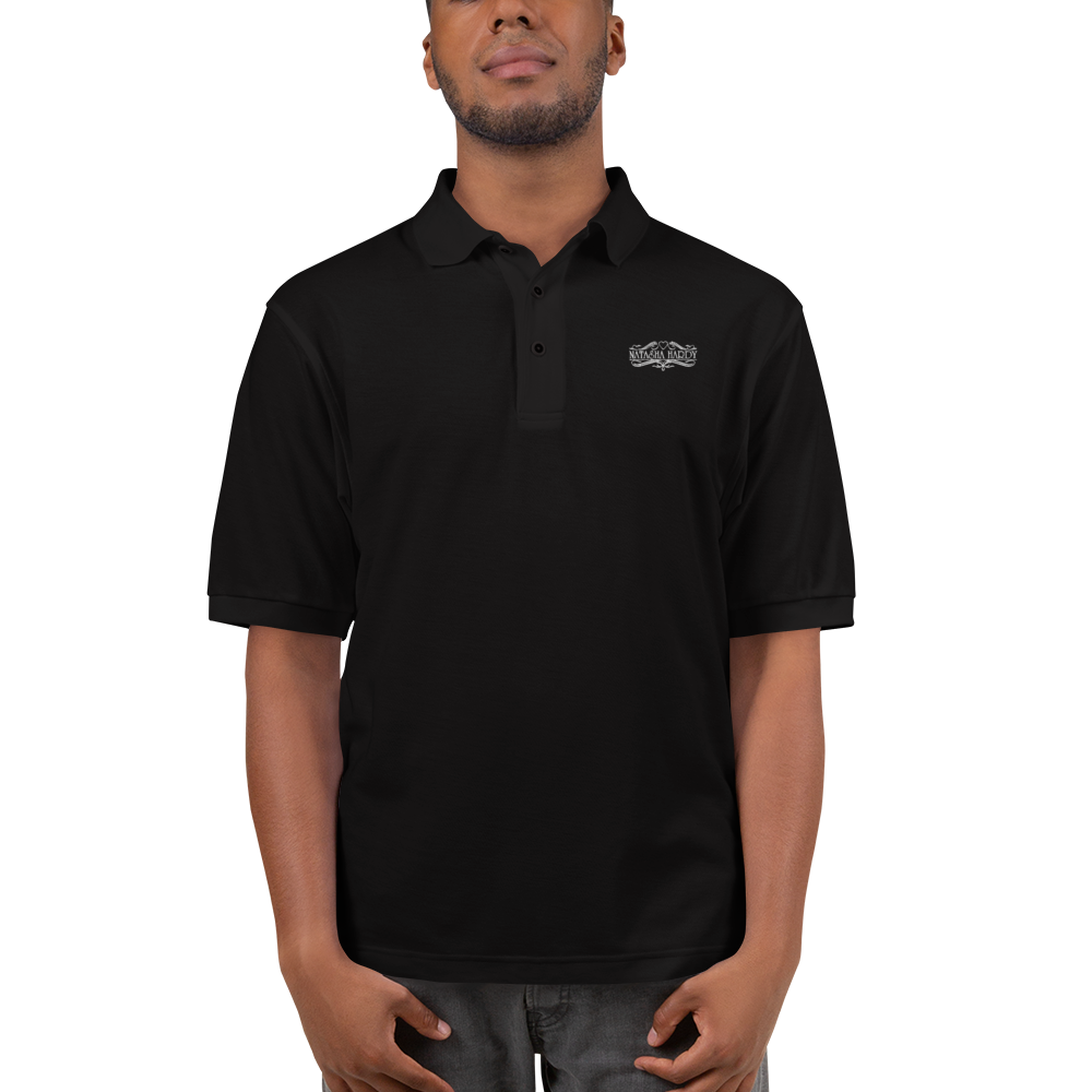 Men's Premium Polo with Embroidered Natasha Hardy Logo