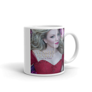 White Ceramic Glossy Mug With Original 'Lost in Love' Artwork