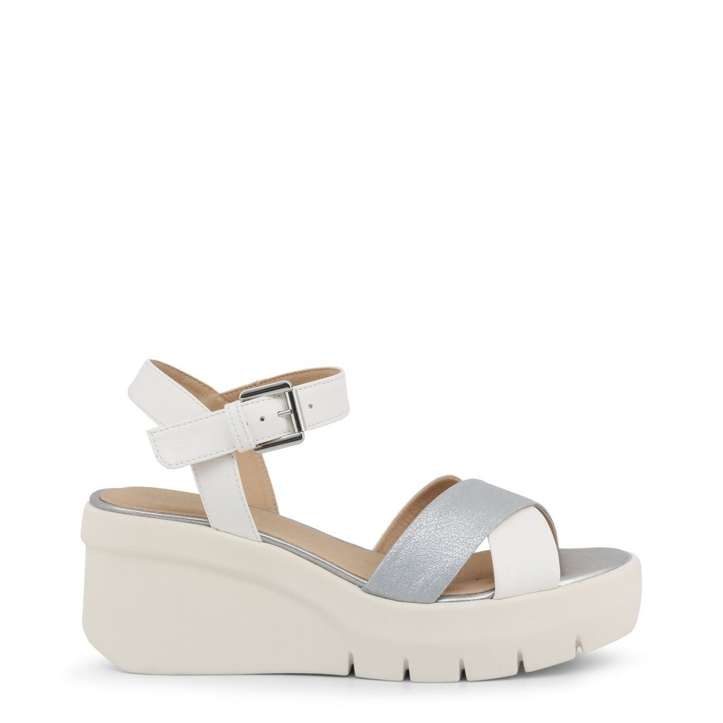 5b693e1f8f Geox Torrence Wedged Sandals Shoes Wedges Sandals Geox White IT35
