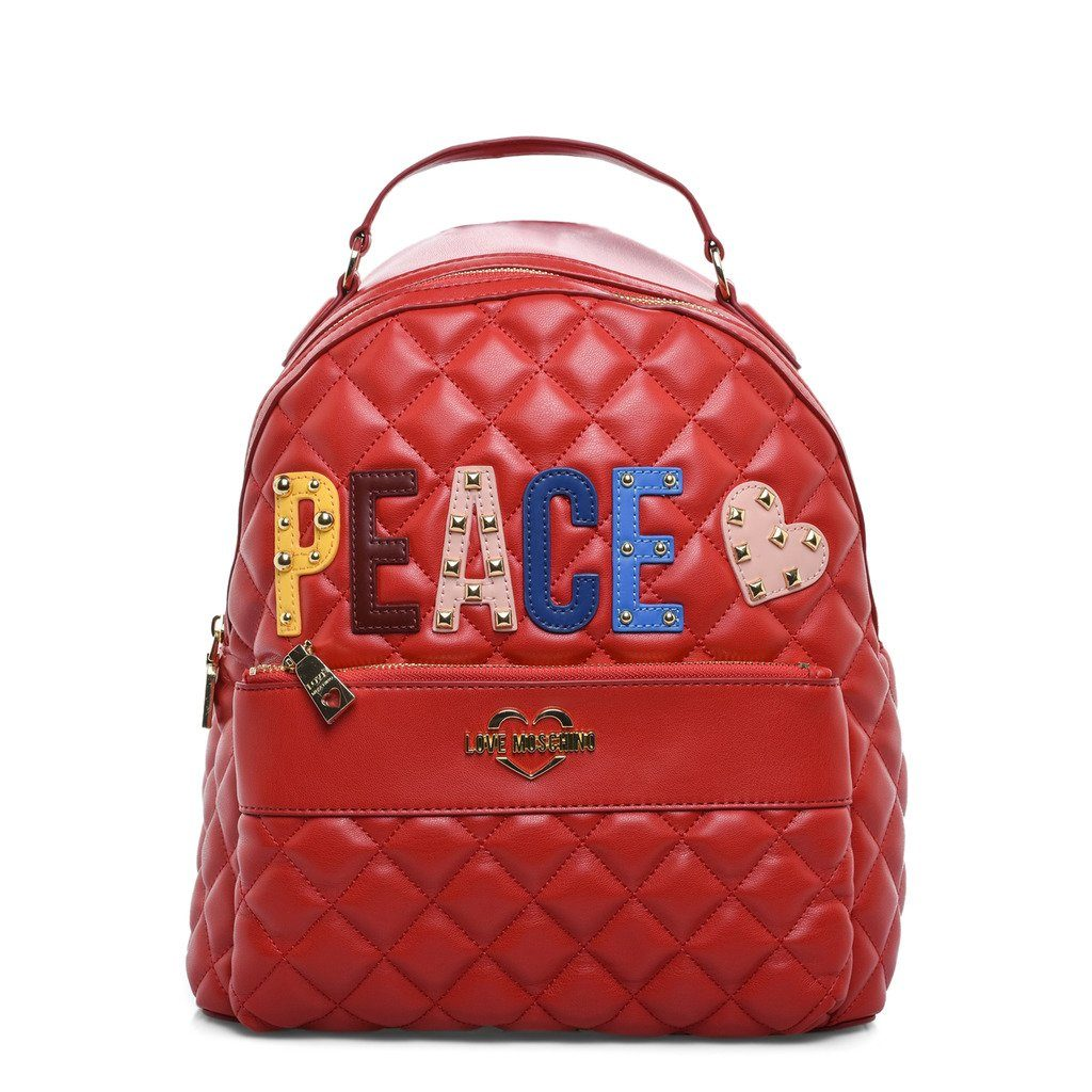4af6b7ef78 Love Moschino Quilted Peace Backpack Bags Rucksacks Love Moschino Red NOSIZE