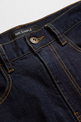 Navy denim with contrasting stitch by Mr Simple