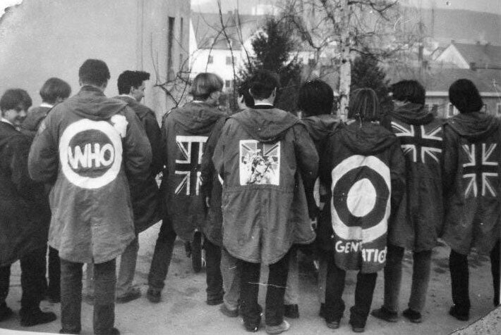 The Mods, London 1960s in their Fish-Tail Anoraks