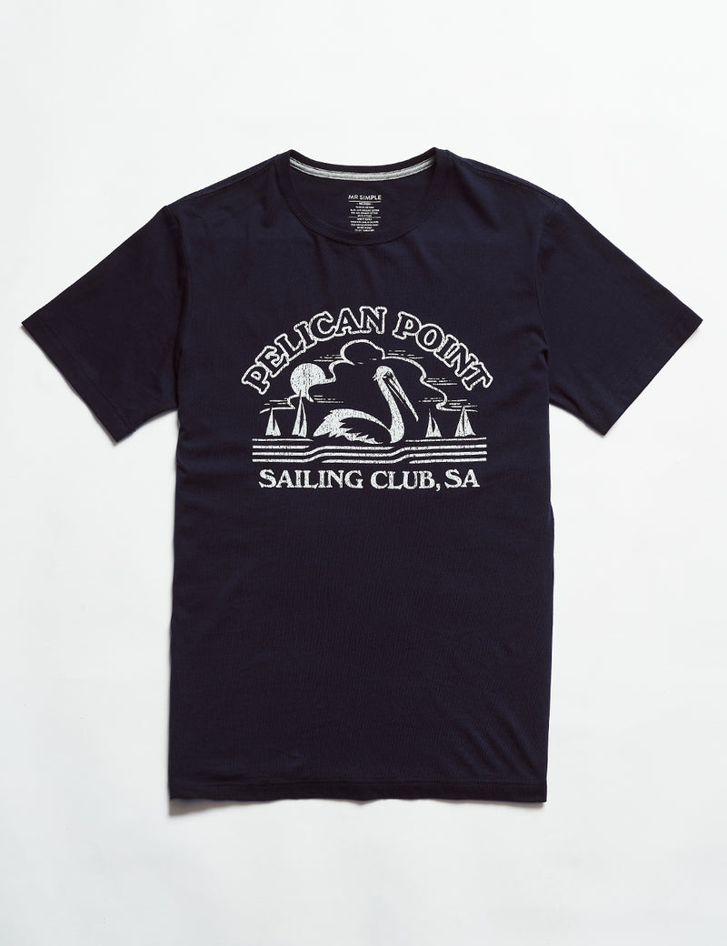 Reginald Tourist Tee - Pelican Point Navy