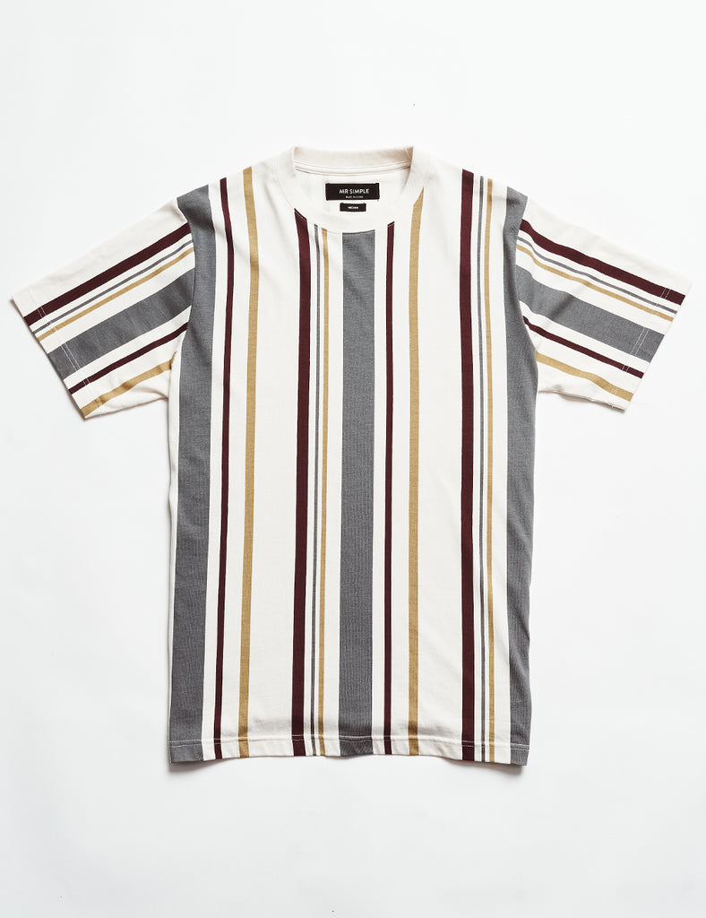 Heavy Weight Stripe Tee - Vertical White Stripe Heavy Weight Stripe Tee - Vertical White Stripe Mr Simple