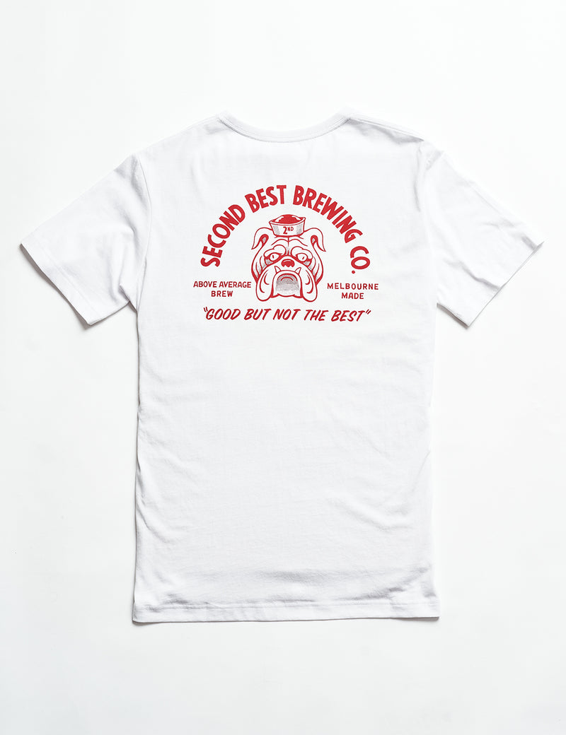 Reginald Tourist Tee - Second Best Brewing Co White