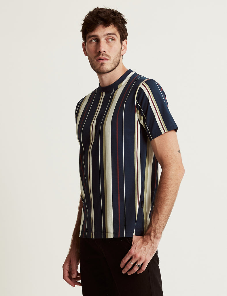 Heavy Weight Stripe Tee - Vertical Navy Stripe Heavy Weight Stripe Tee - Vertical Navy Stripe Mr Simple