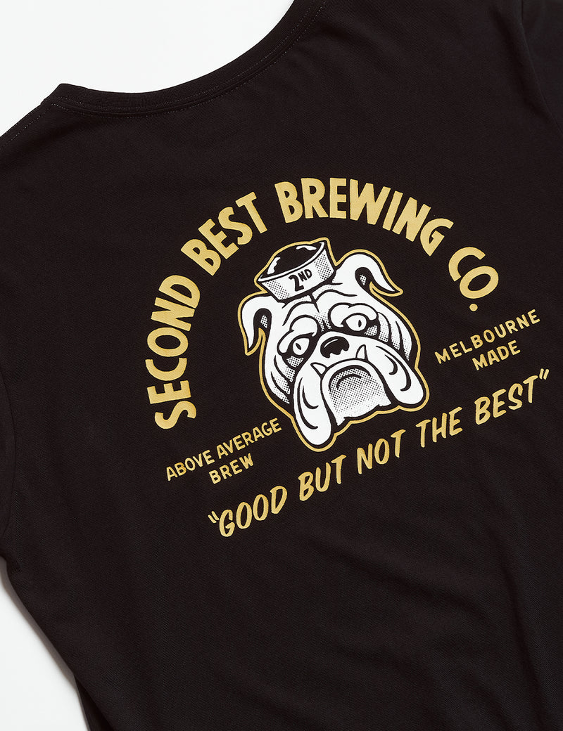 Reginald Tourist Tee - Second Best Brewing Co Black