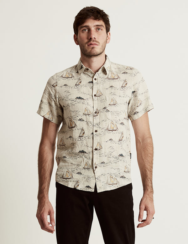 Linen Short Sleeve - Sailing