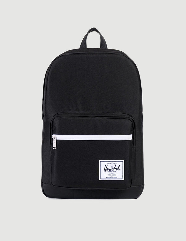Herschel Pop Quiz Backpack - Black/Black Synthetic Leather