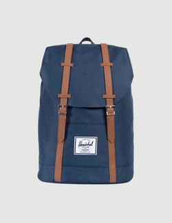 Herschel Retreat Backpack - Navy/Tan Synthetic Leather