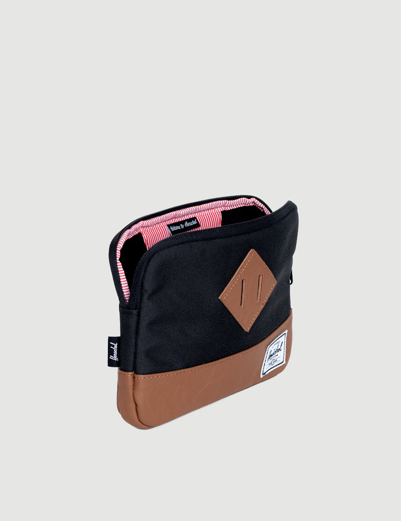 Herschel Heritage Sleeve for iPad Mini - Black/Tan Synthetic Leather