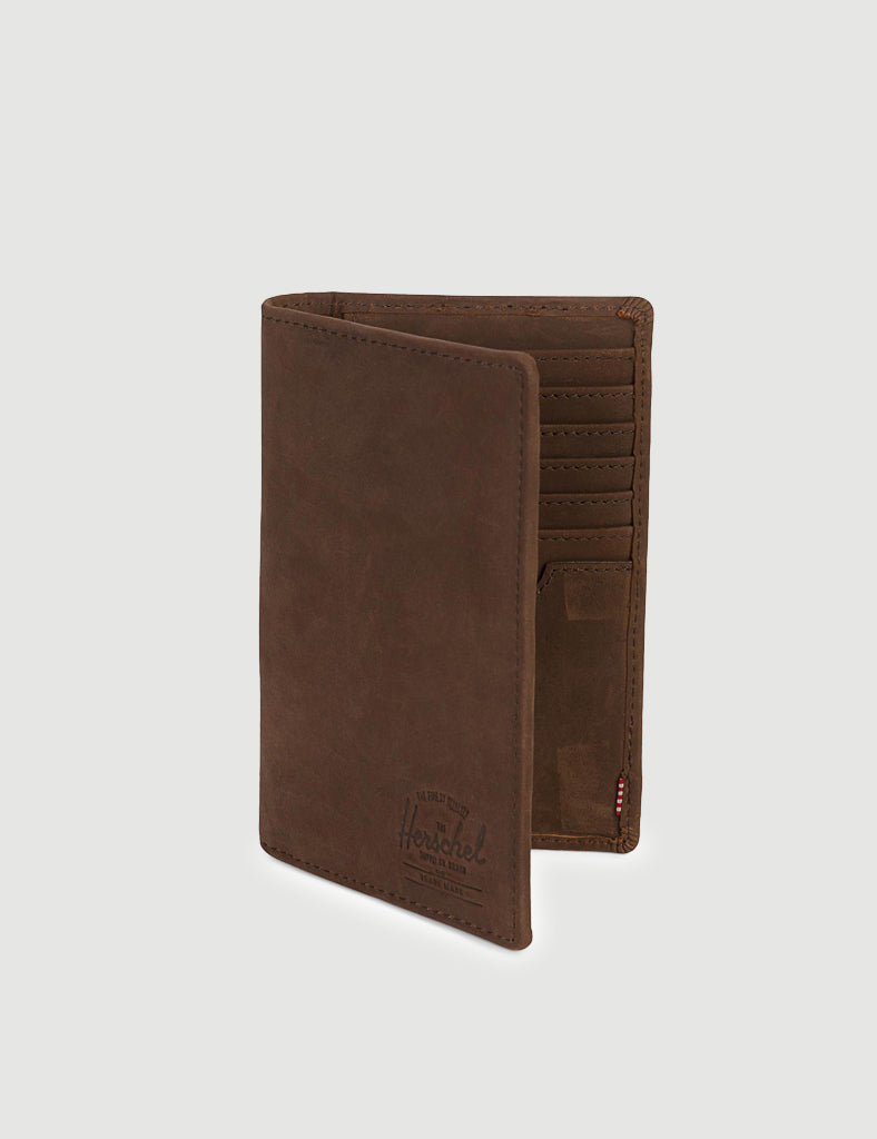 Herschel Search Leather RFID - Nubuck Brown