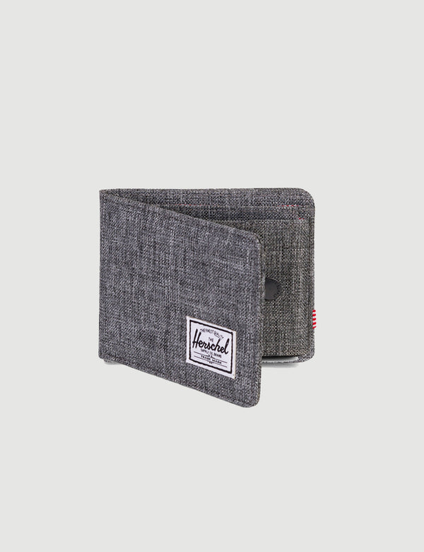 Herschel Roy & Coin Wallet RFID - Raven Crosshatch