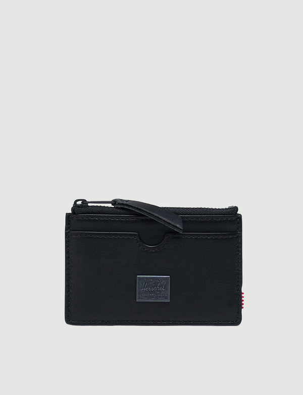 Herschel Oscar Leather RFID Wallet - Black