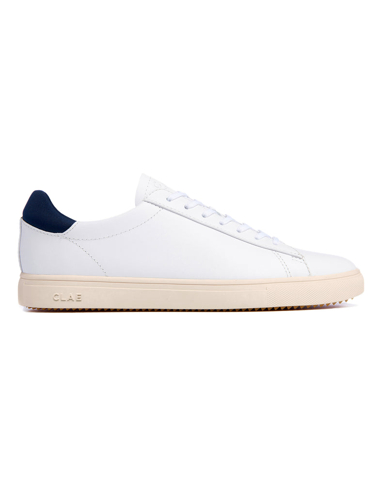 Clae Bradley Essentials - White Full Grain Leather Clae Bradley Essentials - White Full Grain Leather Mr Simple
