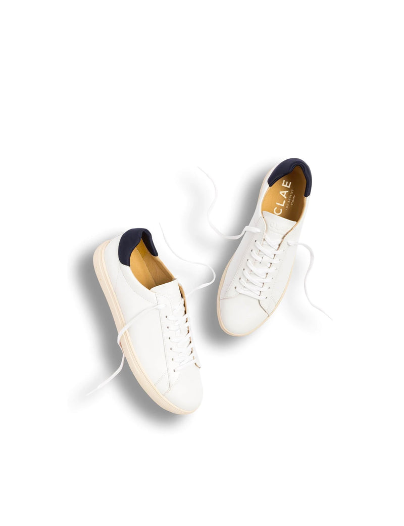 Clae Bradley Vegan - White Navy Vegan Leather