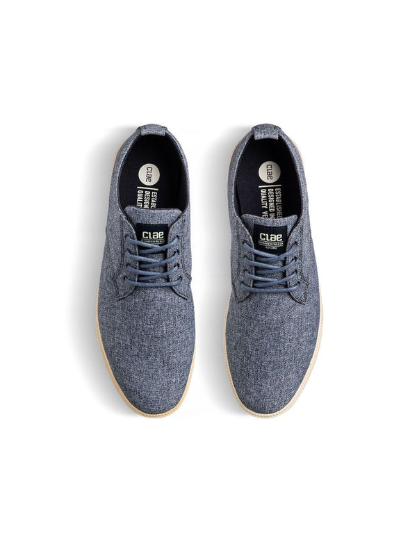 Clae Ellington Textile - Navy Chambray
