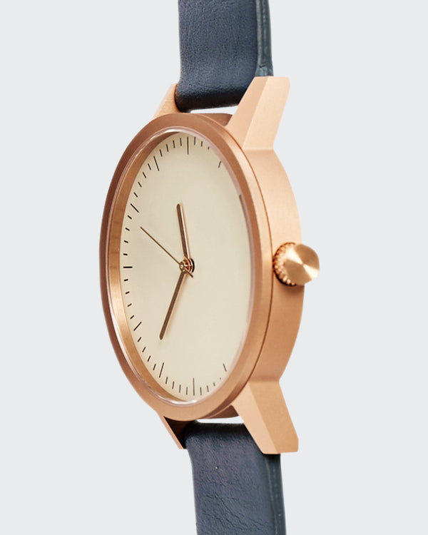 Kent 38mm Watch - Gold/Navy