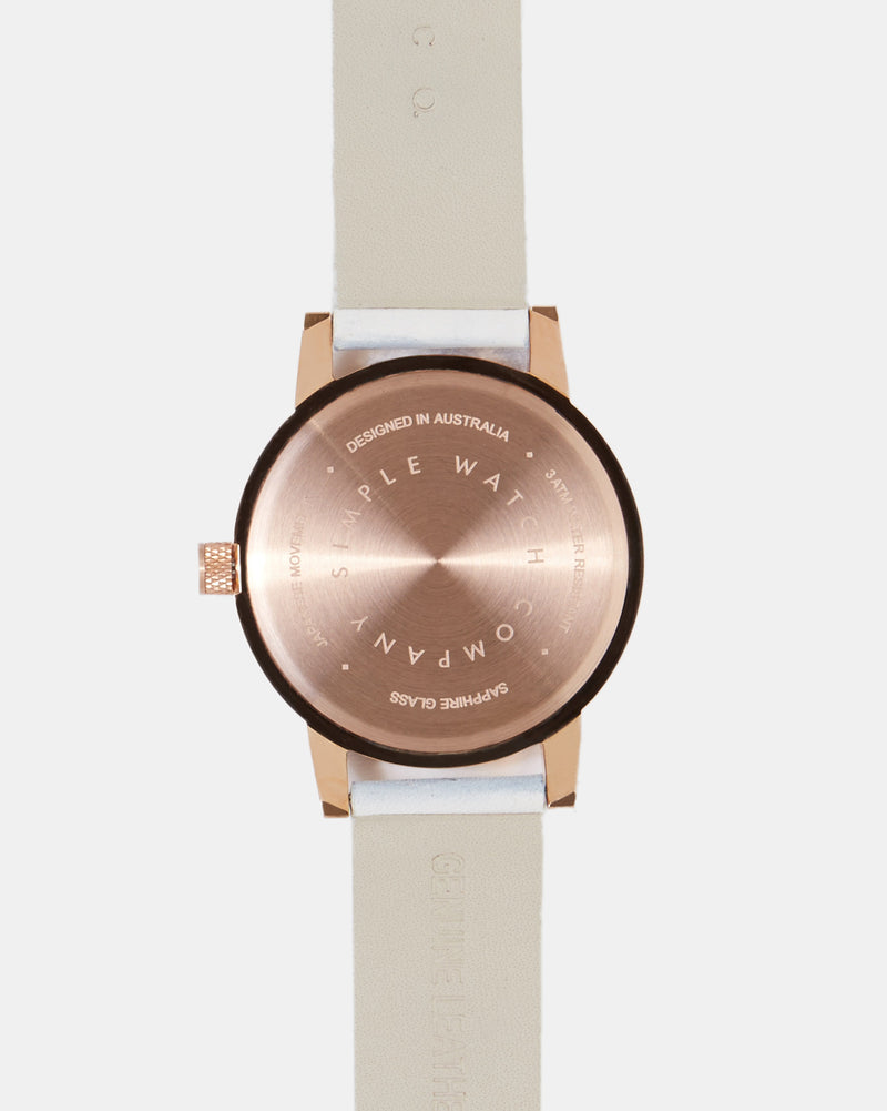 Kent 38mm Watch - White/Gold