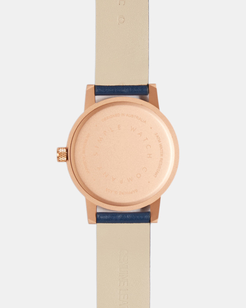 kent watch - gold / navy - 38mm kent watch - gold / navy - 38mm Mr Simple