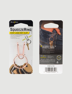 SqueezeRing Easy Load Key Clip - Copper
