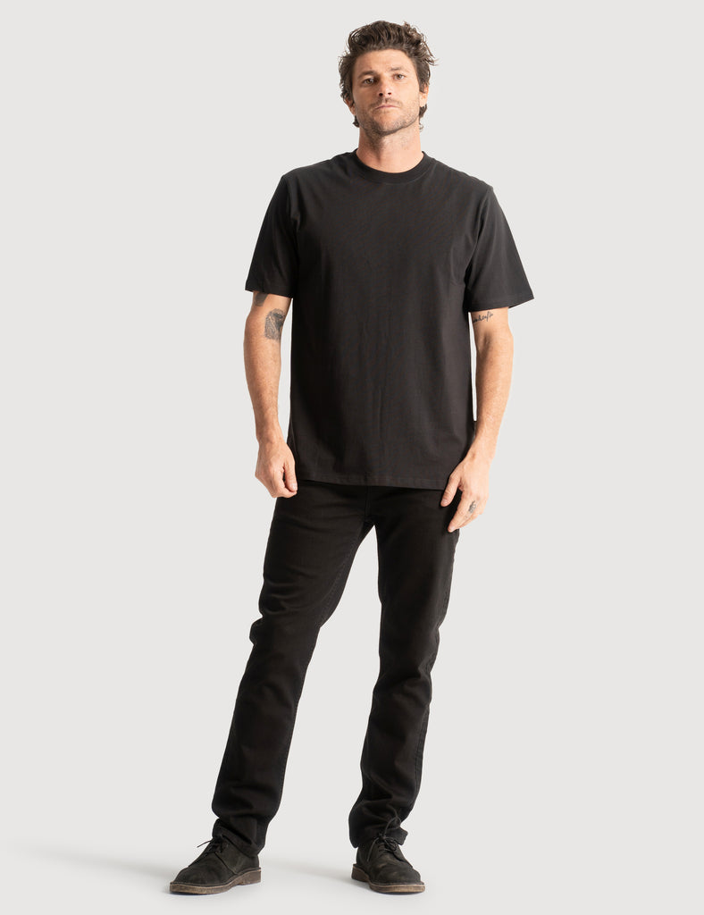 Heavy Weight Tee - Black Heavy Weight Tee - Black Mr Simple