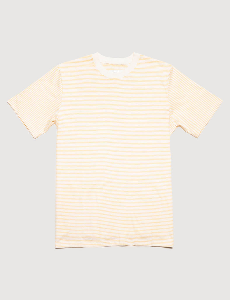 heavy weight stripe tee - mustard stripe heavy weight stripe tee - mustard stripe Mr Simple