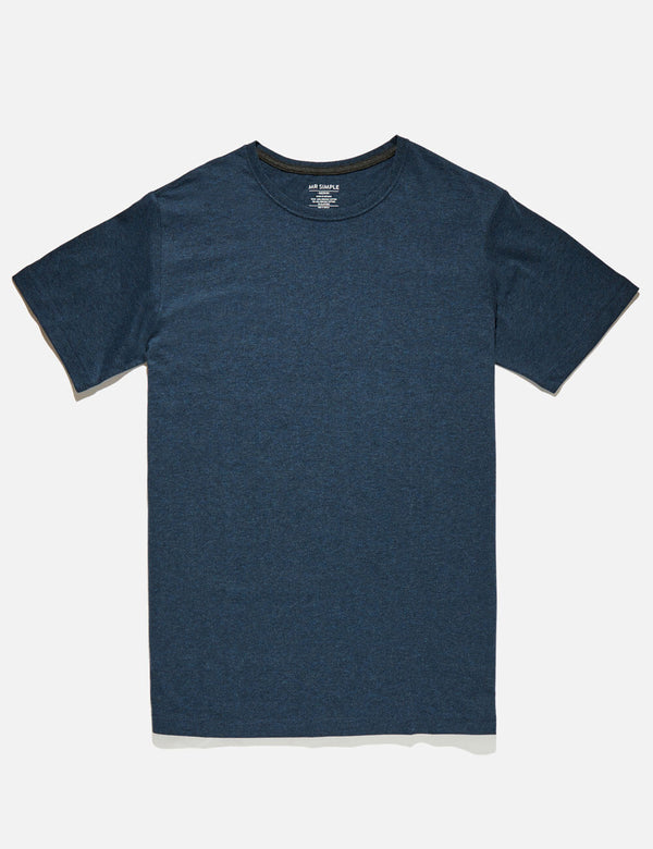 Reginald Tee - Navy Marle
