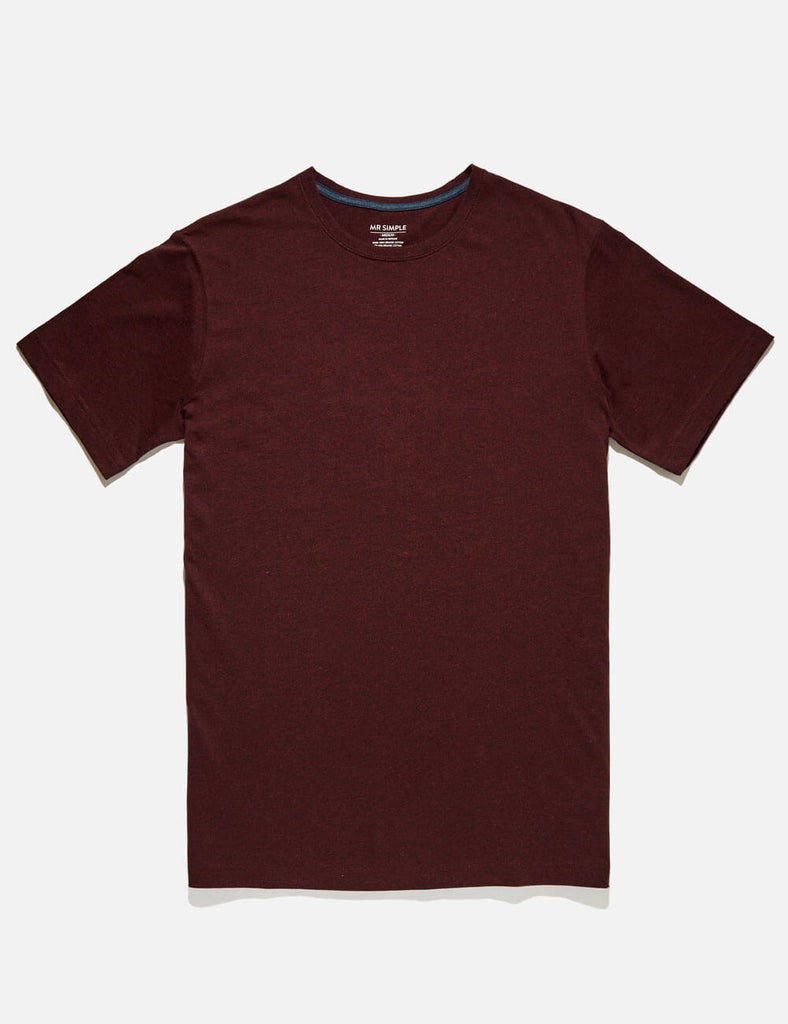 Reginald Tee - Burgundy Marle Reginald Tee - Burgundy Marle Mr Simple
