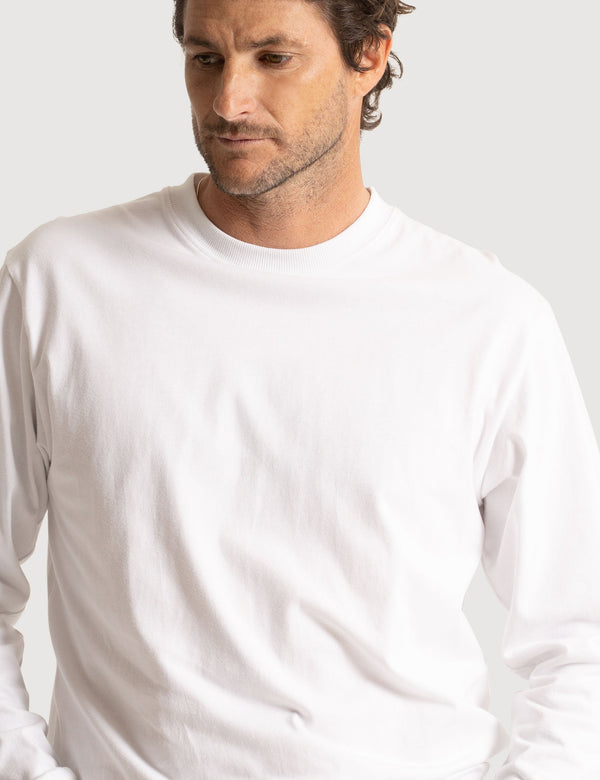 Fair Trade Heavy Weight Longsleeve Tee - White