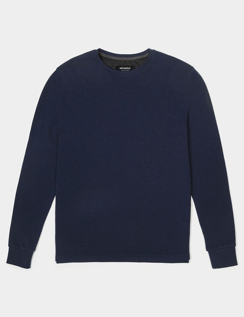 mr-simple-waffle-long-sleeve-tee-navy