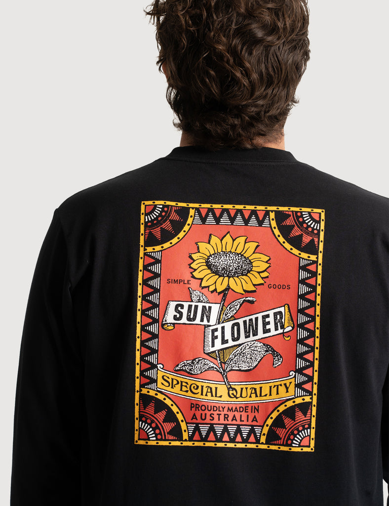 Sunflower Longsleeve Tee - Black Sunflower Longsleeve Tee - Black Mr Simple