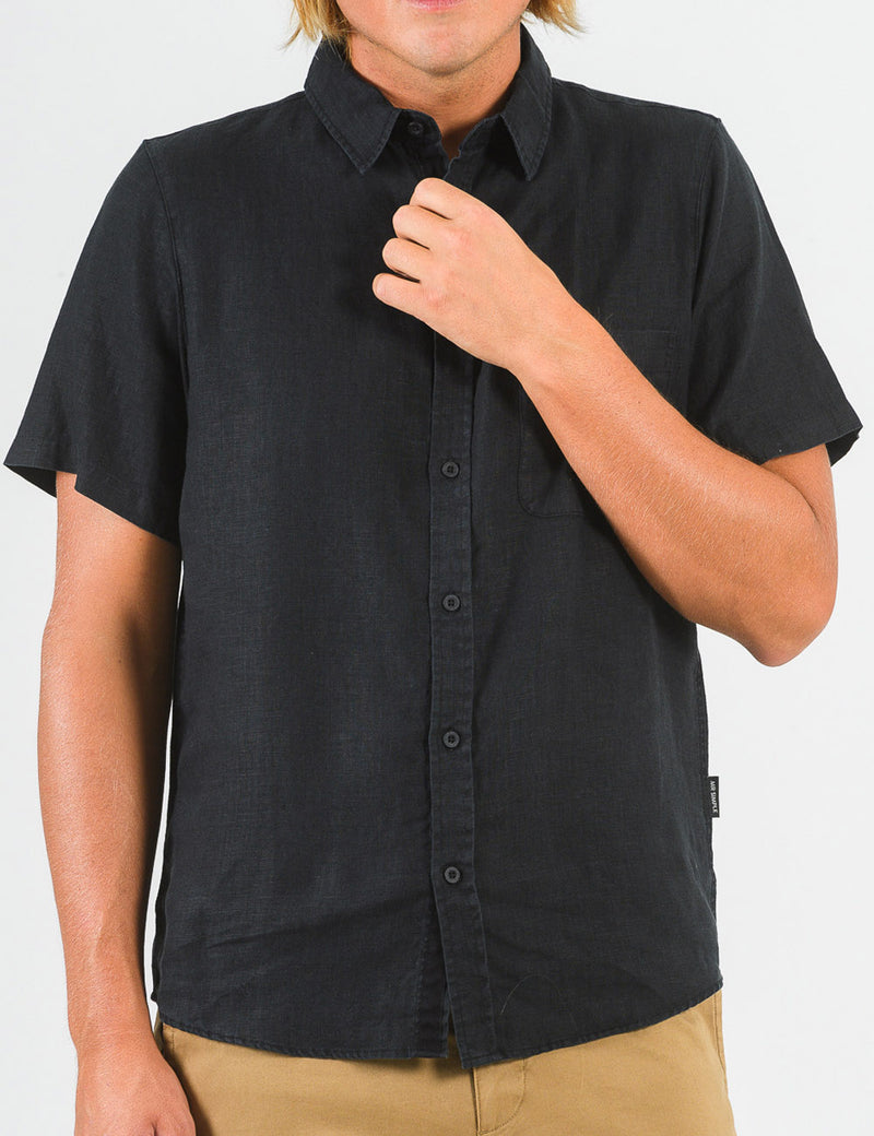Linen Short Sleeve - Black