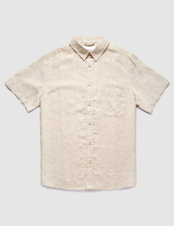 Linen Short Sleeve - Natural