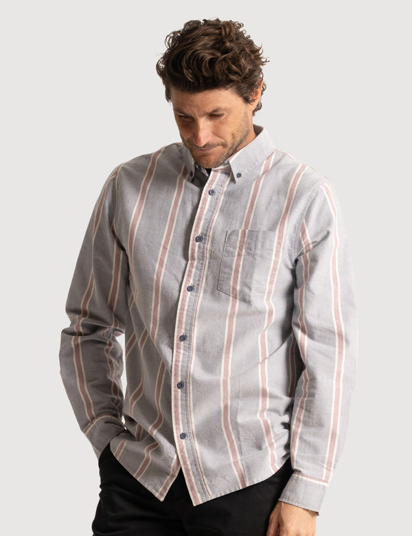 Oxford Long Sleeve Shirt - Blue Stripe