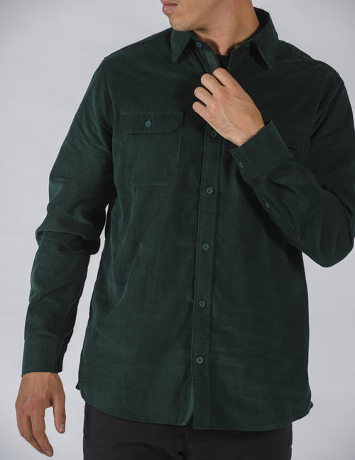 mr-simple-corduroy-long-sleeve-shirt-forest-green