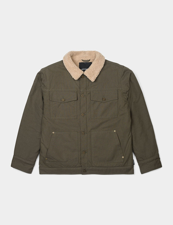 Sherpa Jacket Canvas - Army