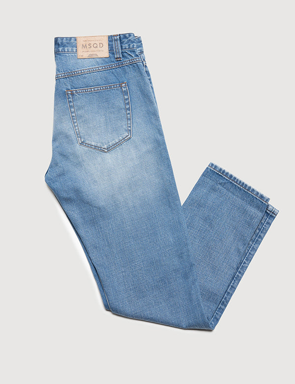 Straight Fit Denim - Vintage Blue