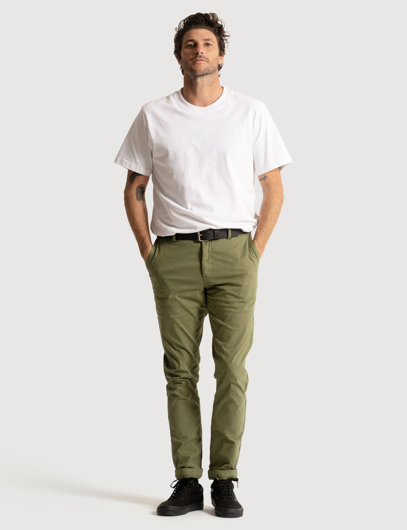 Slim Fit Chino - Army